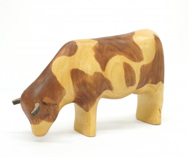 grasende Kuh, rotbraun