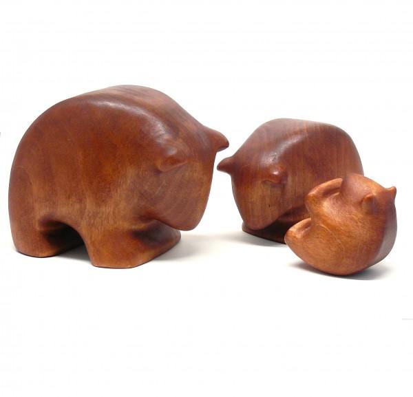 Kullerbären Familie braun