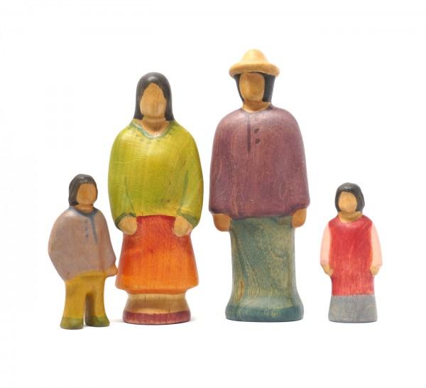 Eine Familie aus Asien