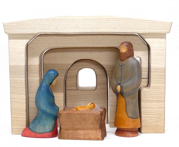 Heilige Familie mit Eschenstall