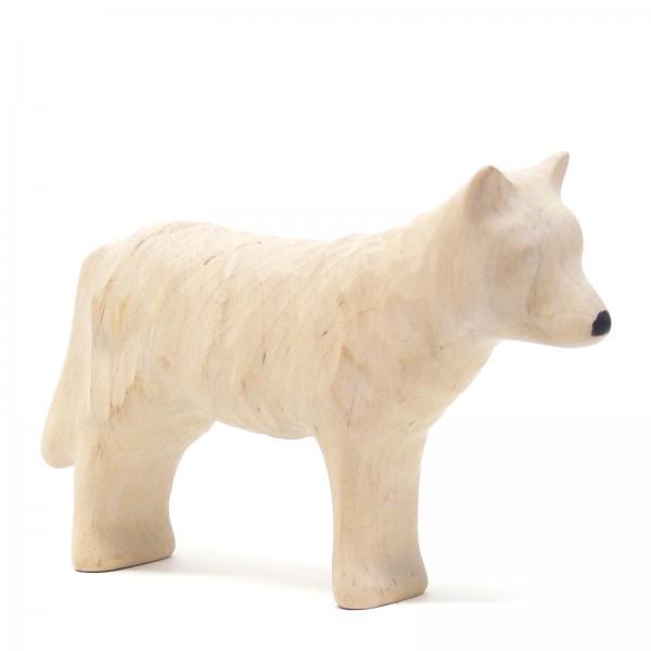 weiße Wölfin von Buntspechte-holzspielfiguren.de