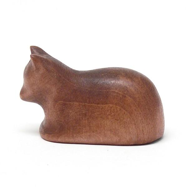 liegende Katze von buntspechte-holzspielfiguren.de