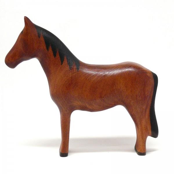 rotbraunes Pferd von buntspechte-holzspielfiguren.de