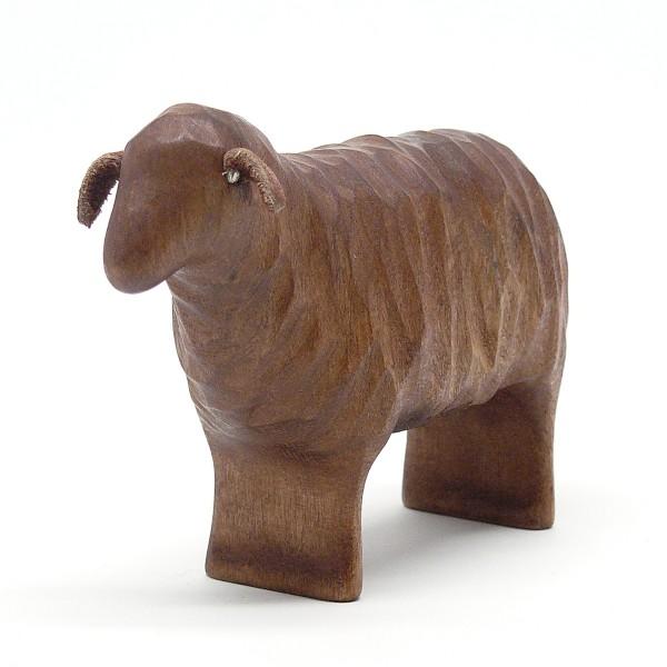 braunes Schaf aus Holz  von buntspechte-holzspielfiguren.de