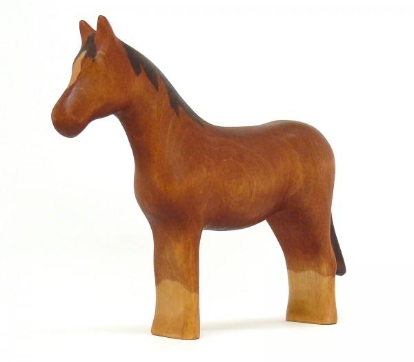braunes Pferd mit hellen Fesseln