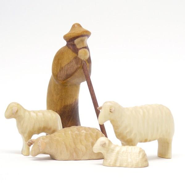 Schafgruppe mit Hirten