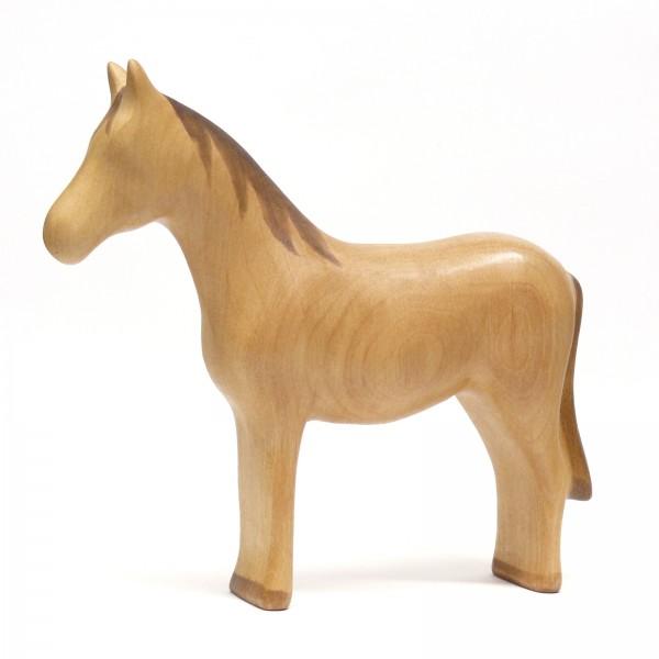 helles naturfarbenes Pferd von buntspechte-holzspielfiguren.de